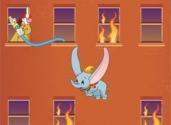 jeux de dumbo et les flammes