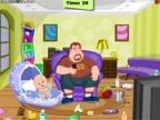 jeux du super papa avec bébé
