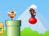 jeu de mario sur le ballon gonflable