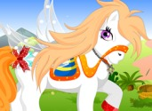 jeu de d'habillage de poney