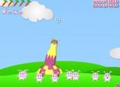 jeux des lapins Blast Off lapins