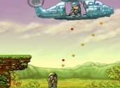 jeu de soldat contre des hélicoptères