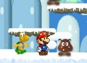 Super Mario dans la neige