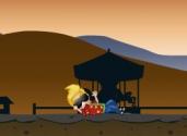 Franky dans le desert
