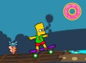 Bart Simpson en moto