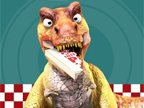 jeux de dinosaures et le livreur de pizza