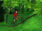 jeux  de bicyclette et les obstacles