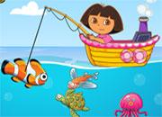 jeu de pêche avec dora