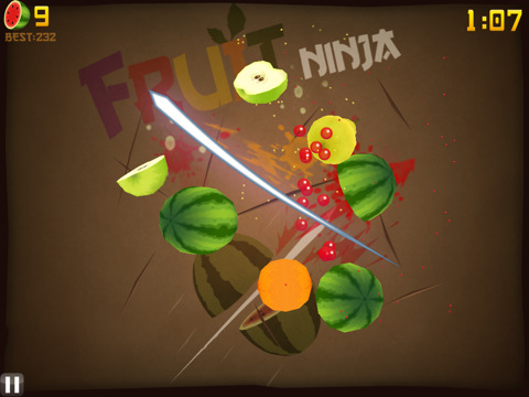 jeu de fruit ninja