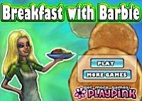 Petit déjeuner avec Barbie