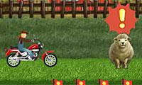 Jeu de moto de fermier