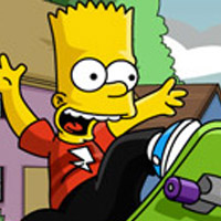 bart simpson et son skate