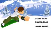 jeux de ben 10 sur une plache de snowboard