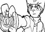 coloriage de Beyblade Metal Master Gingka et pegasus.