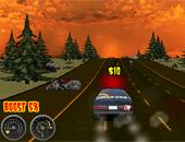 course de voiture entre zombie
