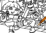Dora l'Exploratrice à Colorier