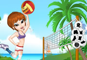 habillage pour un match de volley de plage