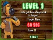 bitzer et les moutons de la serie shaun the sheep