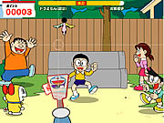 Badminton avec doraemon