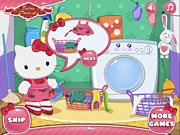 le lavage de hello kitty