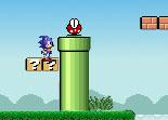Sonic dans le monde de Super Mario.
