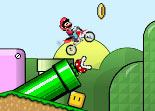 Super Mario en  Moto Cross