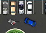 voiture à garer dans le parking