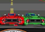 Course de voiture sur Autoroute
